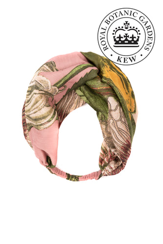 Kew Passion Flower Headband - Pink - LilyKing