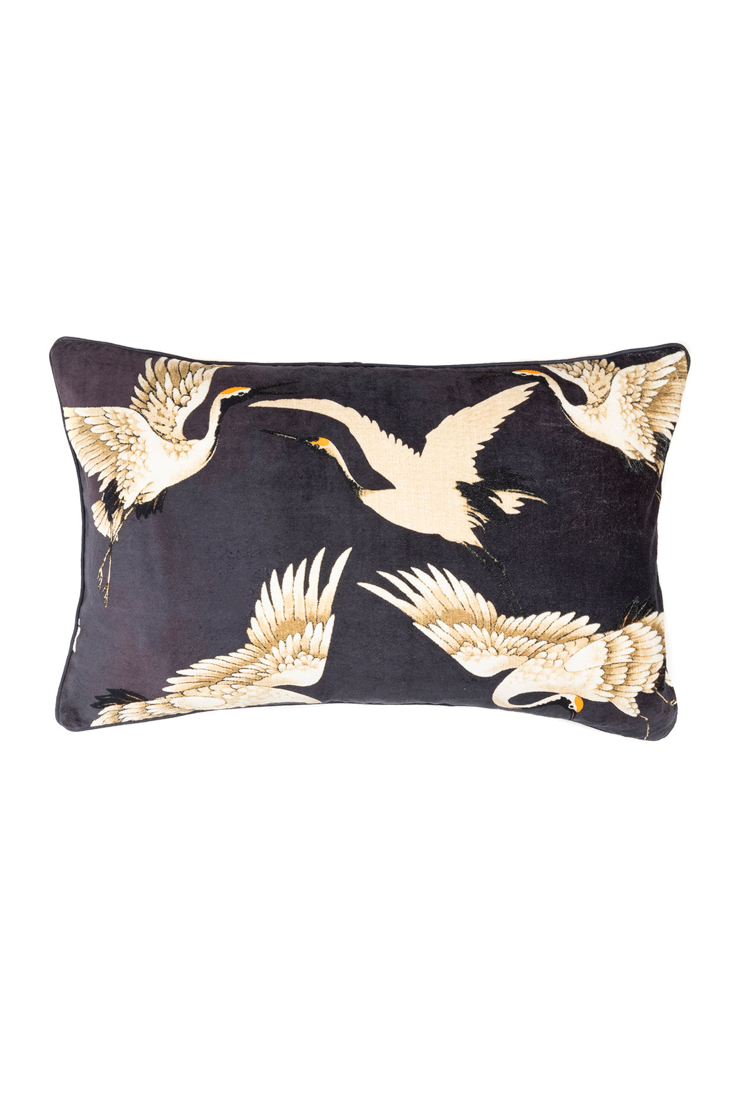 Stork Cushion - Charcoal - LilyKing