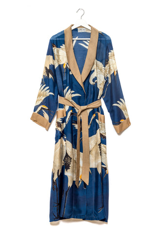 Stork Gown - Navy Blue - LilyKing