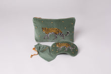 Leopard Khaki Velvet Eye Mask - LilyKing