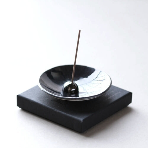 Metallic Stoneware Incense Stick Holder