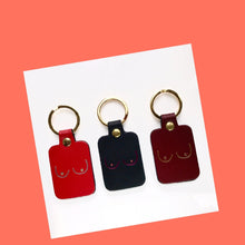 Boobs Key Fob - Red