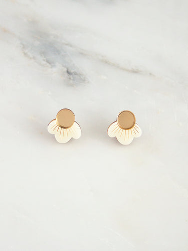 Wildflower Studs - Cream