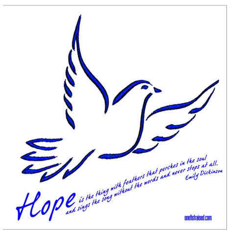 Hope Is The Thing -- (BL) -- Note Cards