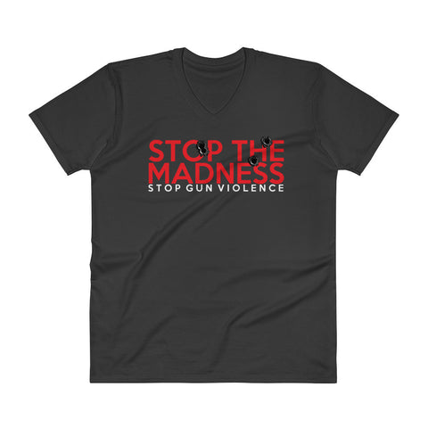 Stop The Madness -- V-Neck (WL)
