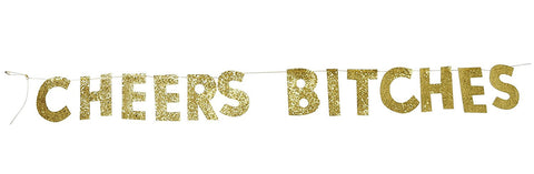 PartyFuFu Cheers Bitches Bachelorette Banner