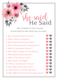 Floral Bridal Shower Games | Set of 5 Games | 50 Sheets Each | Bridal Shower Games and Wedding Anniversary Activities | Includes Marriage Advice Cards and Emoji Game - 5 x 7 Inches
