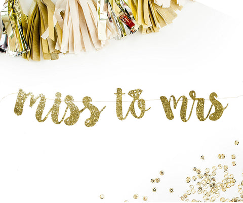 PartyFuFu Miss to Mrs Bachelorette Banner