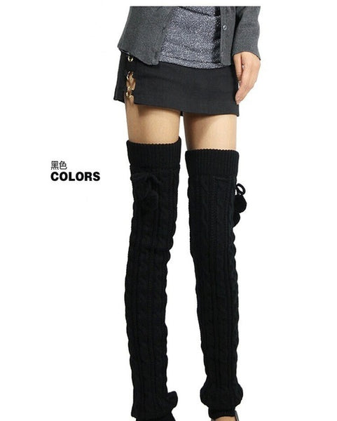 Women's Winter Crochet Knitted Thigh High Leg Warmers - SUPER CUTE