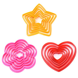 Made your own Valentine's sweets heart star flower cookie cutters
