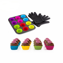 15pcs Muffin Baking Tool Set With Heat Resistant Gloves