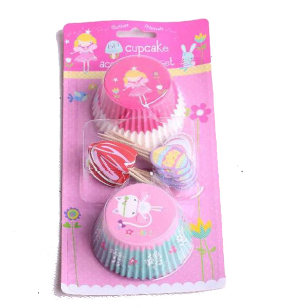 60pcs Cupcake Cases & Toppers
