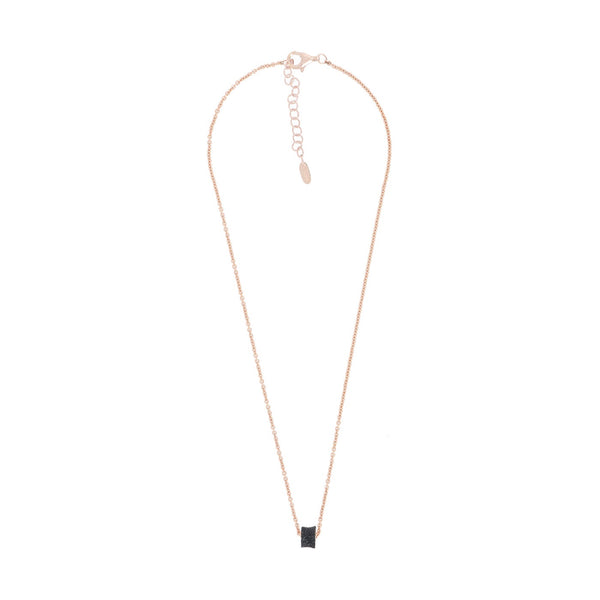 Necklace Pink Shiny Black Particles (732)