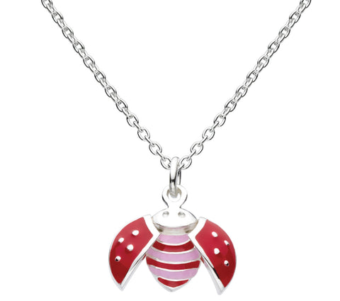 Flying Graceful Ladybird Enamel Necklace