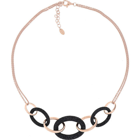 Necklace Pink Shiny Black Particles (1159)