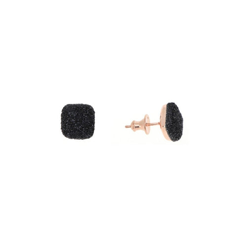 Earring Pink Black Particles (1026)
