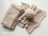 LIGHT BEIGE blanket- newborn size