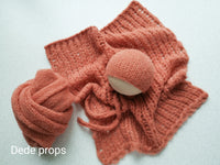 PALE RUST hat- newborn size