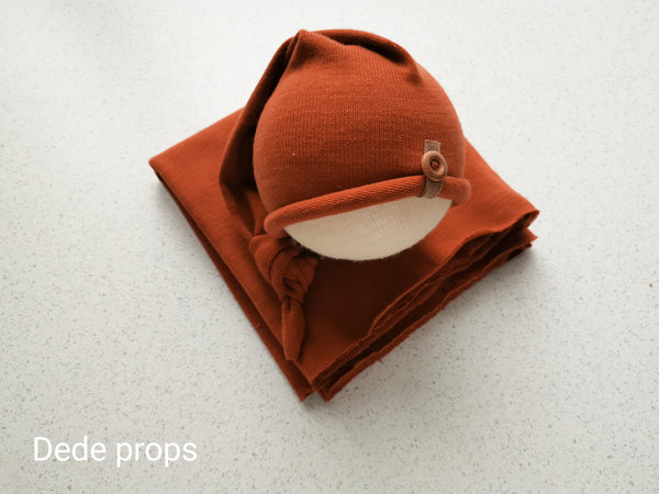 RUSSELL hat & wrap - newborn size
