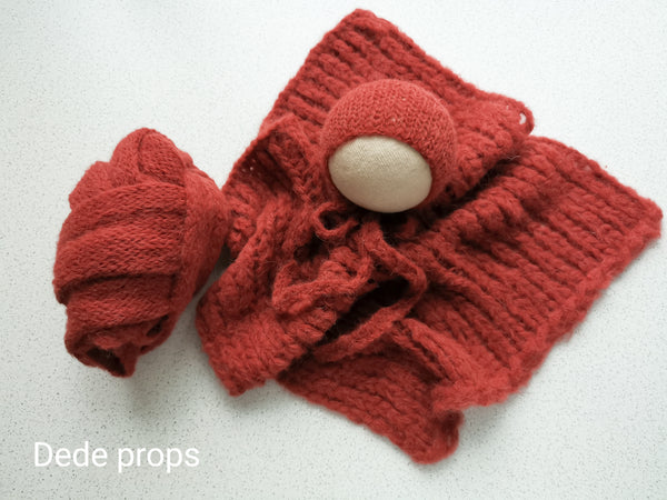 BRICK hat- newborn size