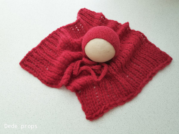 RED wrap- newborn size
