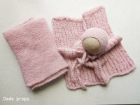 POWDER PINK hat- newborn size