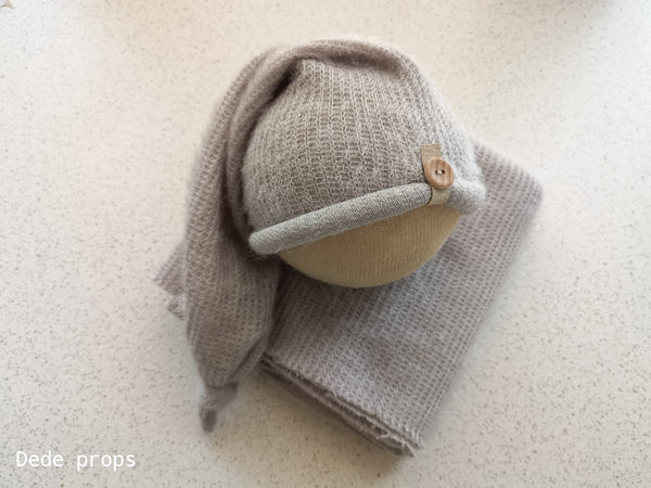 EDGAR hat & wrap - newborn size