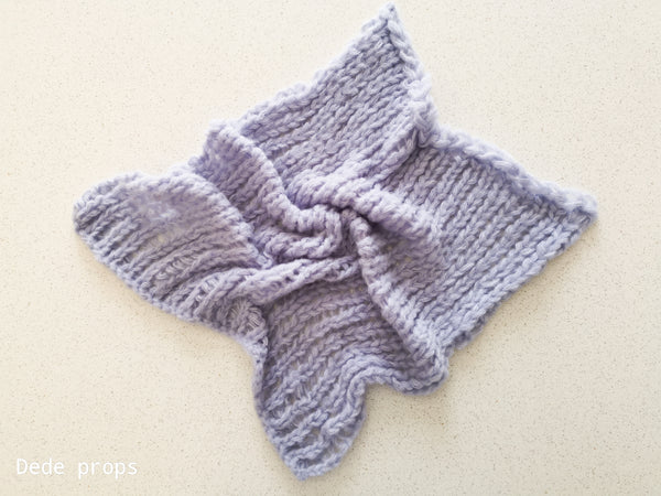 LIGHT LAVENDER blanket- newborn size