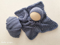 DENIM BLUE blanket- newborn size