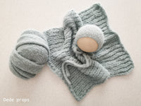 LIGHT SEA GREEN MELODY hat- newborn size