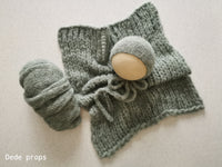 SAGE GREEN  hat- newborn size