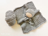 GREY hat- newborn size