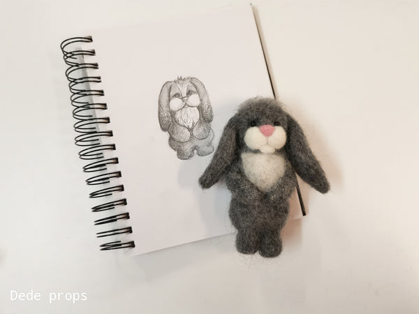 RABBIT - hand felted newborn prop