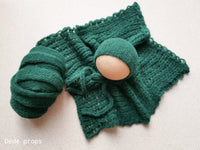 FOREST GREEN wrap- newborn size