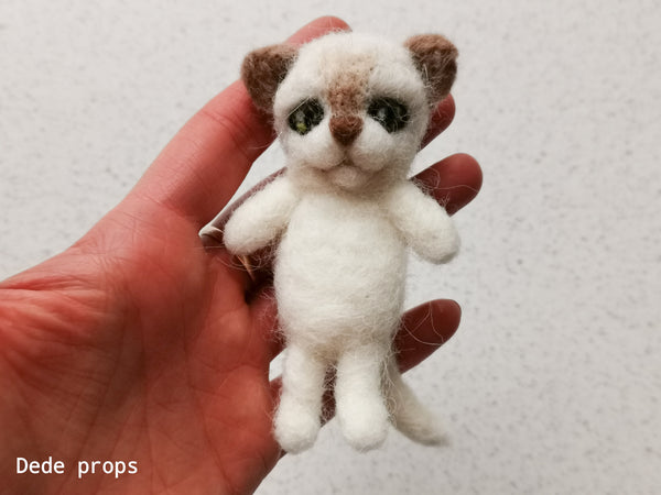 CAT - hand felted newborn prop