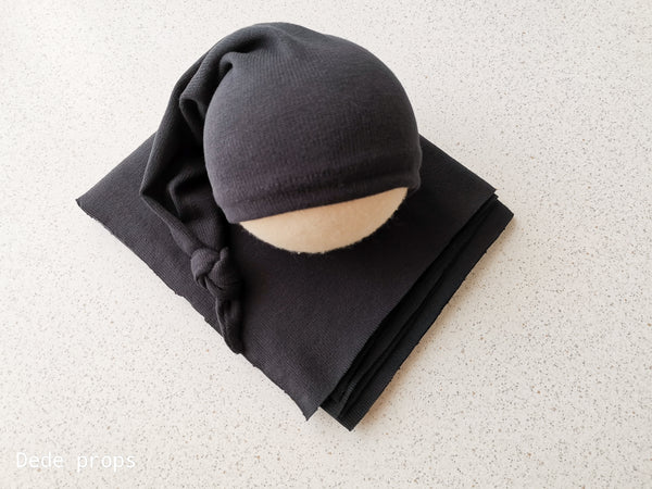 TAFFY hat & wrap - newborn size