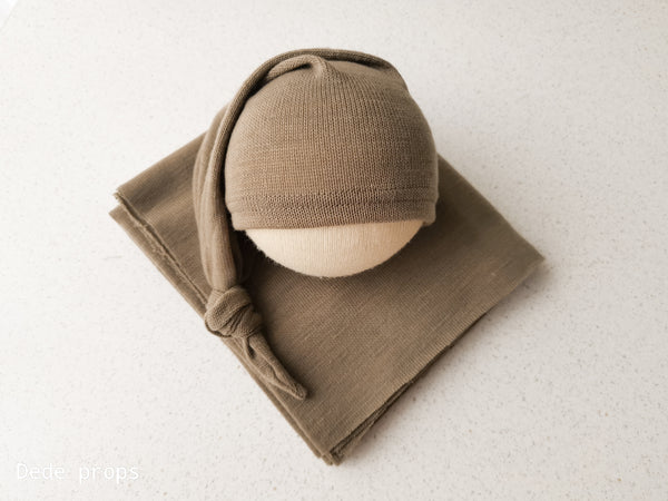 PIERCE hat & wrap - newborn size