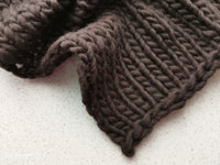 DARK BROWN SNOW blanket- newborn size