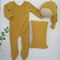 JOEL SET (ROMPER, HAT, PILLOW)- NEWBORN SIZE