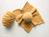 YELLOW AIR blanket- newborn size