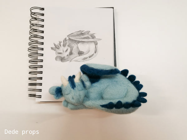 DRAGON - hand felted newborn prop