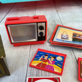 Re-Ment Retro Red Television Set