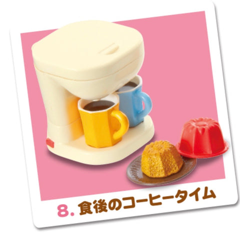 Re-Ment Happy Recipe Homemade Meals #8 Coffee Set
