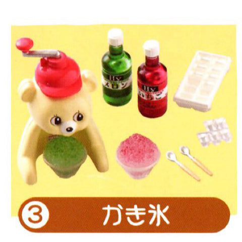 Re-Ment Let's Get Cooking #3 Bear Shaved Ice Dessert Set