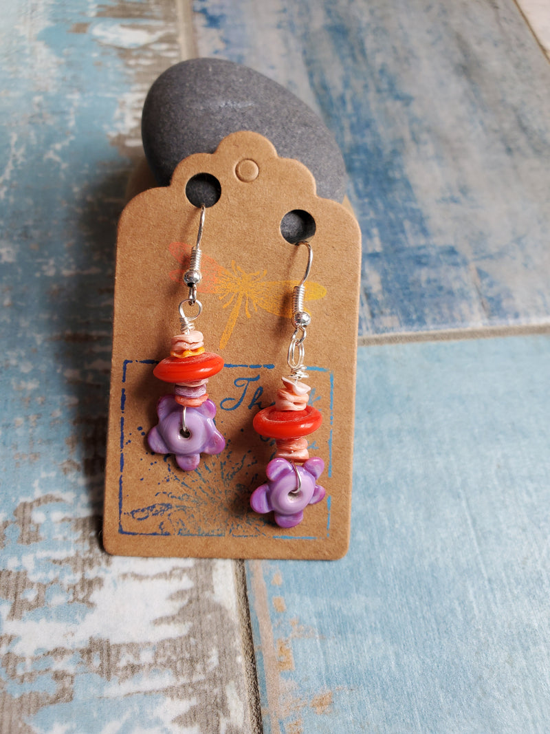 Bohemian Sea Shell Earrings