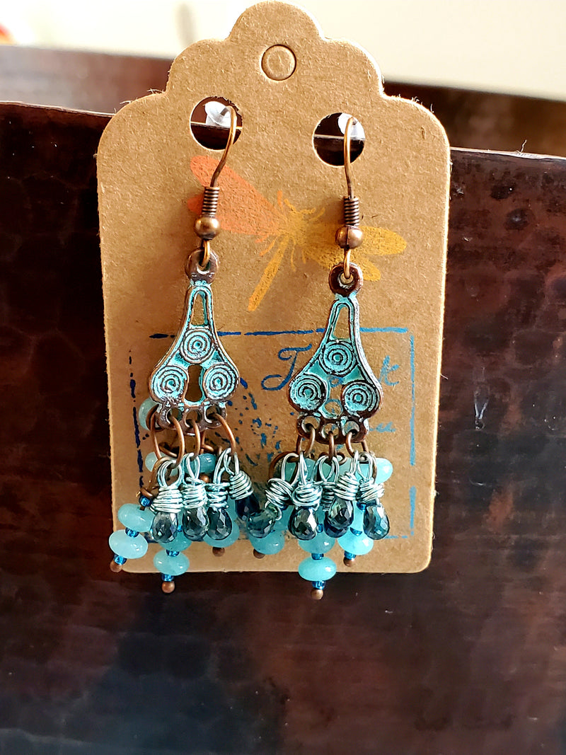 Fancy Bohemian Sapphire Earrings