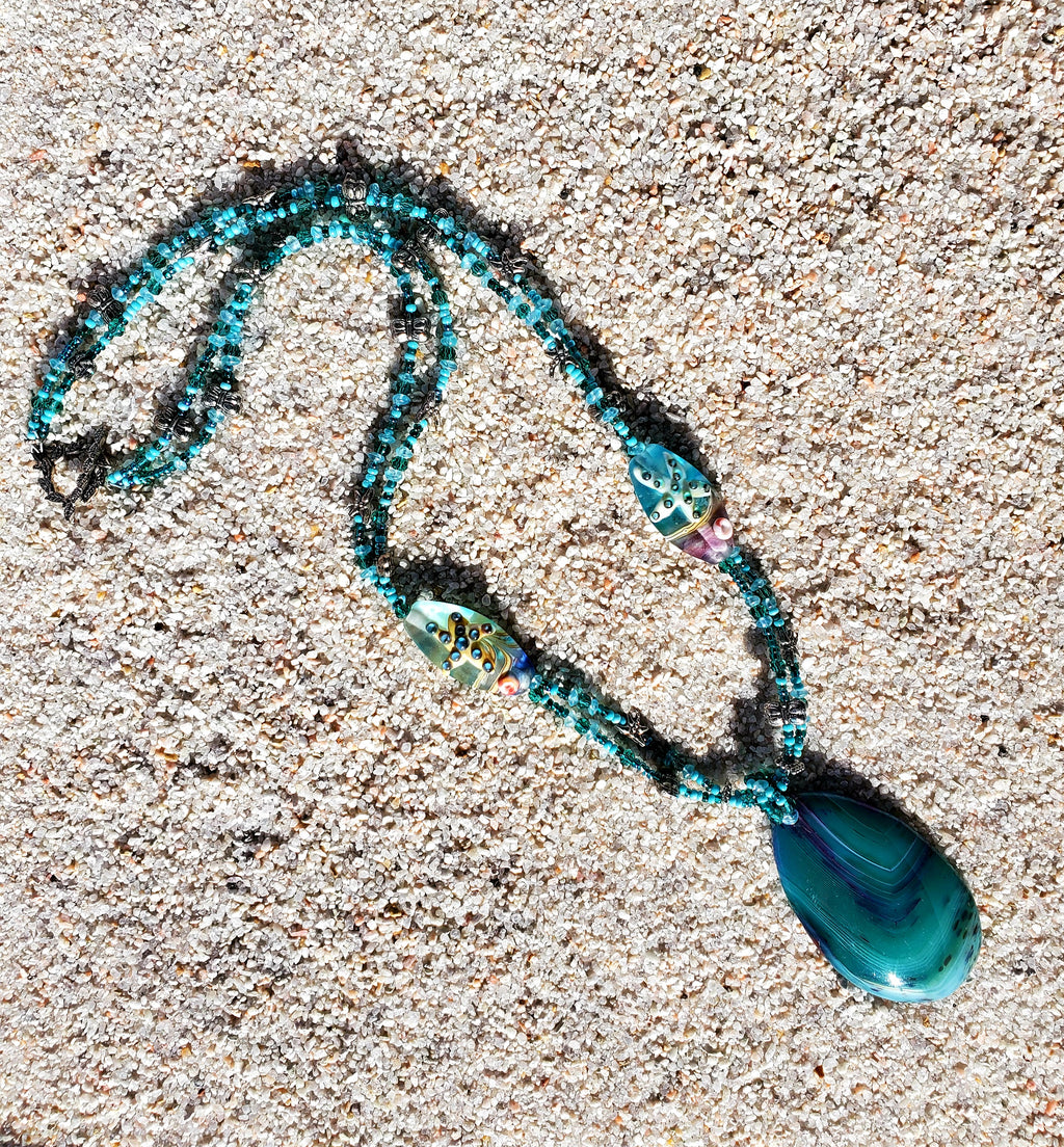 Gift for Her, Shades of the Sea Mermaid Necklace
