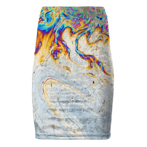 Abstract Velvet Rainbow Swirl Leggings