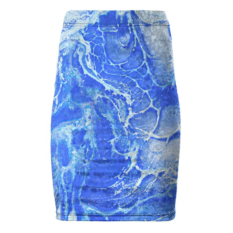 Underwater Dreams Velvet Skirt