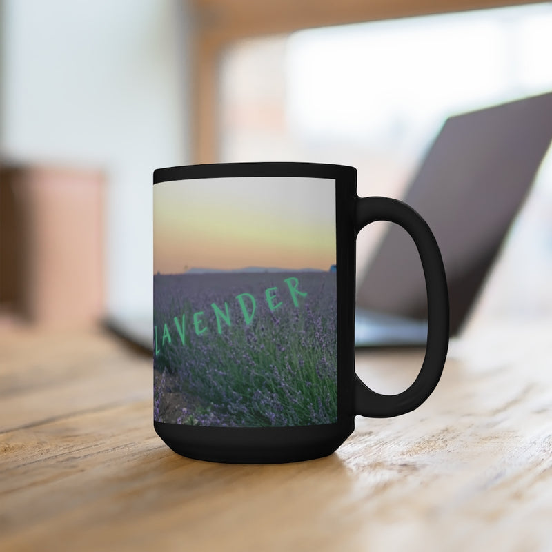 Calming Coffee Mug, Abundance Mug, Large Black Mug 15oz